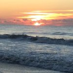 Great sunsets and sunrises, such a narrow barrier island, get both when staying at Birgata compl