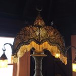 Nifty lampshades throughout this resort!