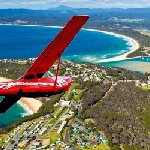 One of our scenic flight aircraft over Merimbula