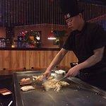 Steak, shrimp, chicken