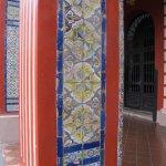 Azulejos pintados a mano del convento, traídos de España