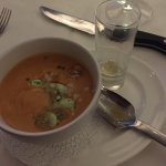 Lobster Bisque Soup with pour-over sherry