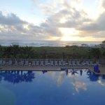 From our Veranda across the pool toward the ocean.