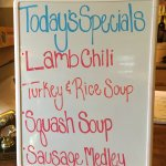 Specials at Side Saddle Cafe