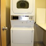 Coin-operated guest laundry area. Open from 6:30 am-10:00 pm. Change & soap available at Front D