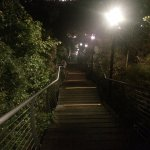 The treacherous staircase back to the cabins from the restaurant