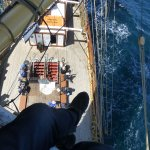 View after climbing the mast
