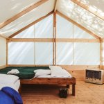 Trapper's Tent with rental bedding