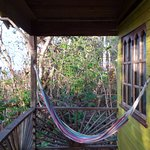 Hammock on the balcony.