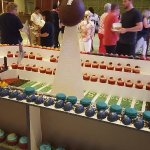 Dessert table for super bowl party. The pastry chefs out did themselves.