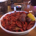 5 lb plate of boiled crawfish