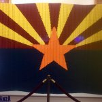 AZ flag made of Legos