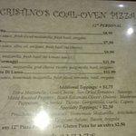 Foto de Cristino's Coal Oven Pizza