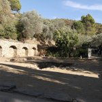 The entrance area with ancient ruins