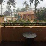 Hotel in the rain