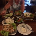 delicious food ( larb, pineapple fried rice, thai spicey salad)