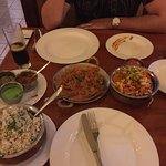We had the biryani and prawn curry with cumin rice. so delicious and only cost us 1300 rupees su