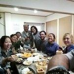 Dinner at Yoke-san's with volunteers