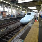 Shinkansen train is very fast speed