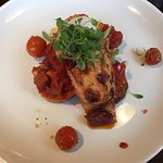 Buttermolk cornfed chicken with smoked paprika and peppers - insipid, looked like it had been si