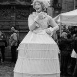 Lady Street Performer on Royal Mile, Edinburgh Fringe Festival, Edinburgh, Scotland by David Whe