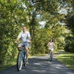 Couple On Bike Trail