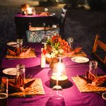 Nothing beats a dinner under the stars!