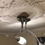The light fitting in the room