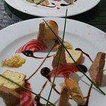 Entrée Foie gras & Tartare de saumon