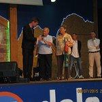 il sindaco di Andalo premia noi per 20 anni di presenza