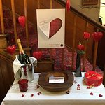 Valentine display and menu The Old Castle