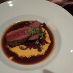 Venison with a squash sauce...I believe the venison was from Utah?