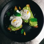 Crushed Avo and poached eggs