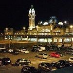 Gare vue de nuit