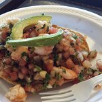 Shrimp tostada - heavenly