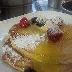 buttermilk pancakes with fresh lemon curd