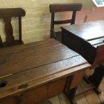 Old style desks.