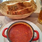 Goulash soup with fantastic bread