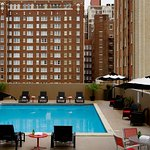 Enjoy views of downtown while you relax by our roof top pool