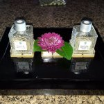 Spa oils at the couples villa