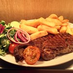 Rib Eye Steak and Chips