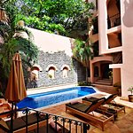Hacienda style common areas and beautiful pool