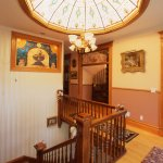 Upstairs Hallway and 36-panel Stained Glass Dome