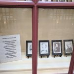 Photos of famous writers who had visited the DeSoto House Hotel.