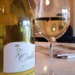 A glass of Orélie white wine in Eaton Square Terenure