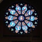 Rose window in transept
