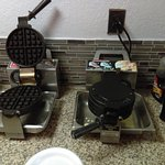 Hot waffles on standby -- make your own