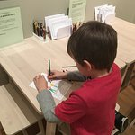 Drawing table at the Art Museum