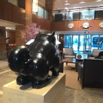 Botero sculpture in lobby #1
