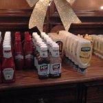 Arron's superb presentation of the condiments.